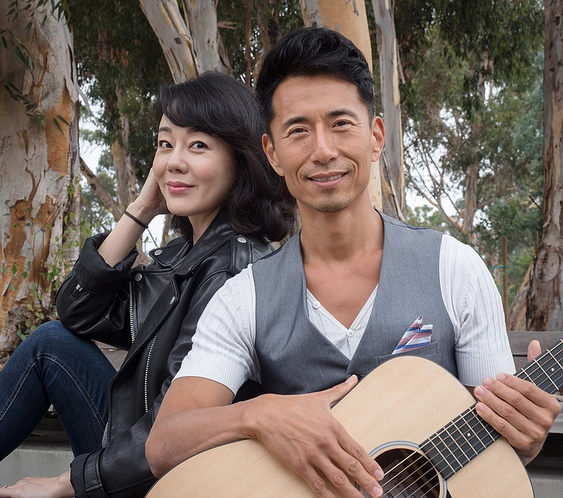 Yunjin Kim (left) and James Kyson, of La Jolla Playhouse's