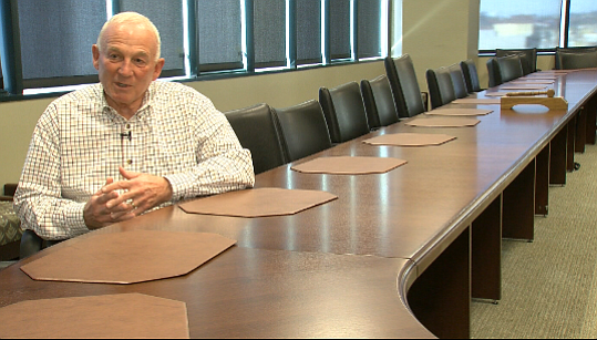 Jerry Sanders, former Mayor of San Diego, sits in the boardroom of the San Di...