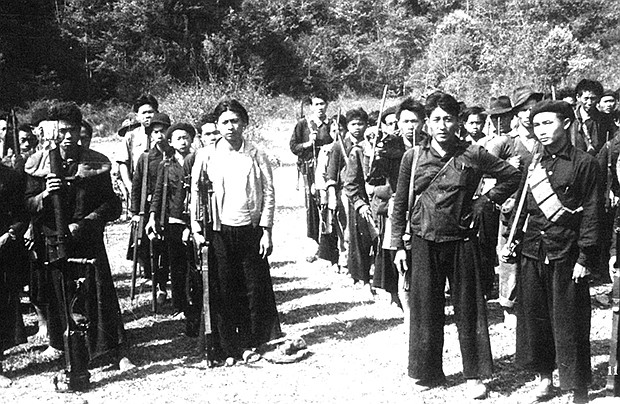 Anti-communist Hmong guerrilla troops in 1961.