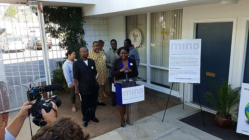Nile Sisters Development Initiative Senior Program Manager Rebecca Paida, who...