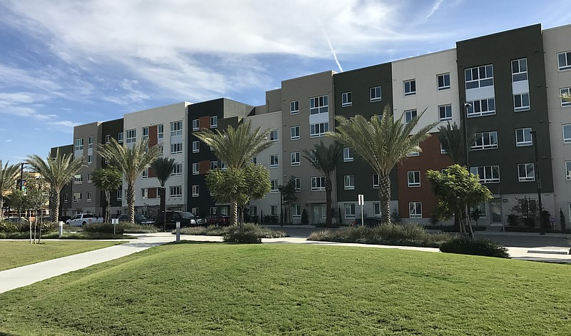 The Duetta complex pictured above has 87 units for low-income families in Chu...
