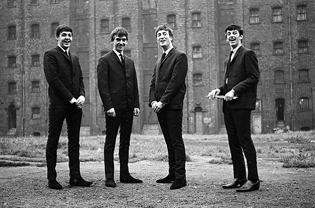 The Beatles in Liverpool, England, Sept. 1962.