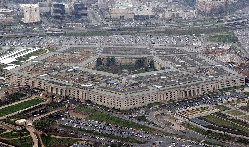 The Pentagon is seen in this aerial view in Washington on March 27, 2008.