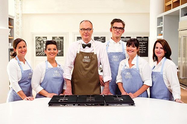 (L-R): The cast of CHRISTOPHER KIMBALL'S MILK STREET TELEVISION - Erika Bruce...