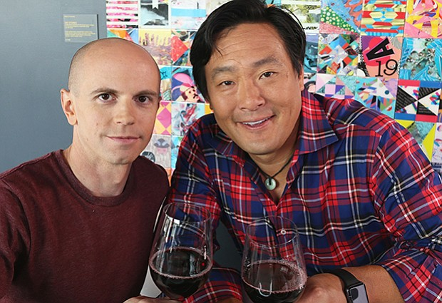 Ming Tsai with Chef Matt Louis from the restaurant Moxy in Portsmouth, N.H.
