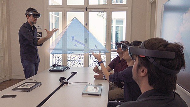 Scan Pyramids presents results in augmented reality.