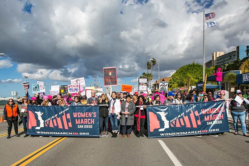 About 37,000 people joined the Women's March in downtown San Diego, January 2...