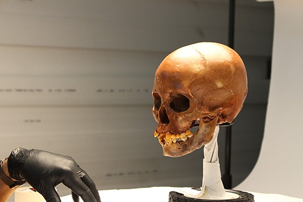 Closer look at Naia's skull. Follow forensic clues that reveal intimate detai...