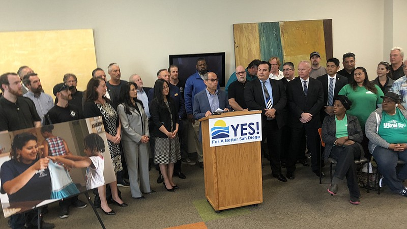 Supporters of Yes! For A Better San Diego gathered to announce an endorsement...