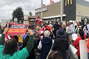Advocates Rally For Minimum Wage Workers In San Diego