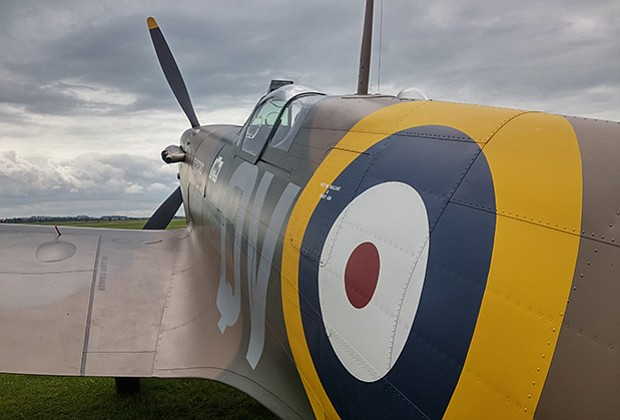 Decades after crashing on the beach in 1940, Geoffrey Stephenson's Spitfire h...