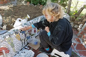 Mira Mesa Woman Covers Her Yard In A Mosaic 'An Inch At A...