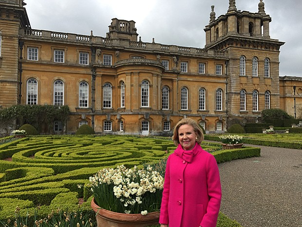 Holly Holden on the grounds of the historic Blenheim Palace estate situated i...