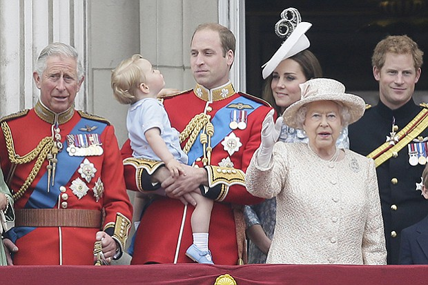 Prince Charles, Prince George, Prince William, Kate Middleton, Duchess of Cam...