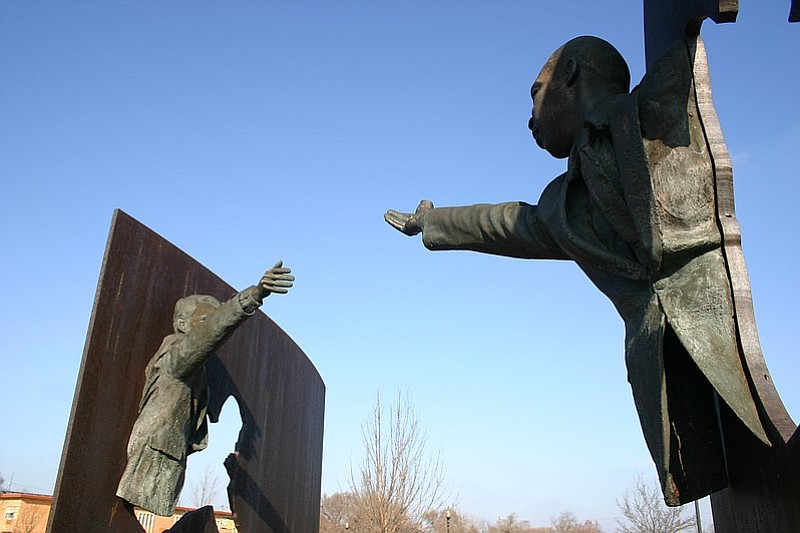 The Landmark for Peace sculpture at Dr. Martin Luther King Jr. Park in Indian...