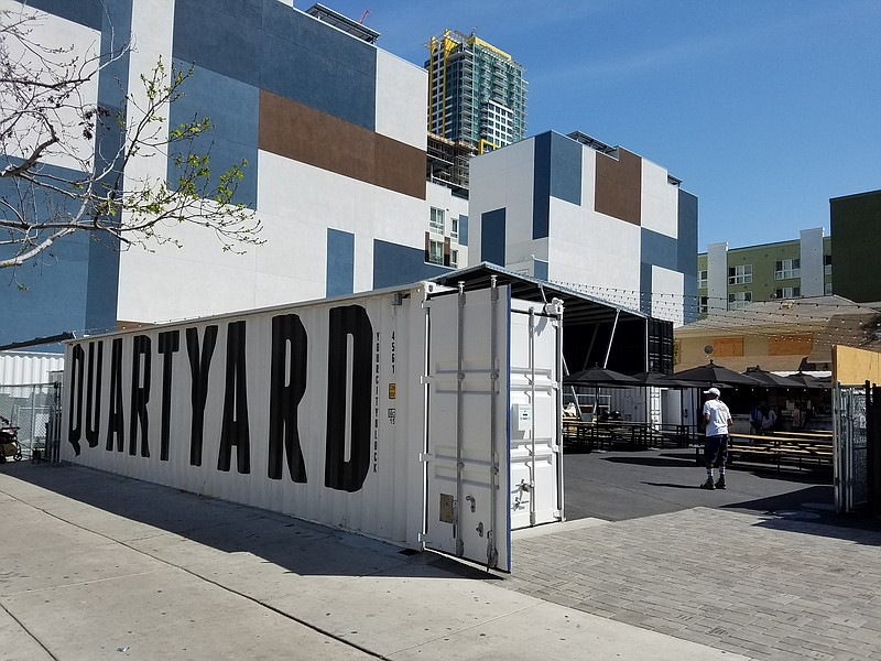 The temporary park Quartyard is shown in its new location at 13th and Market ...