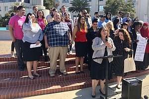 Rally Against Supervisor's Meeting To Discuss Lawsuit Aga...