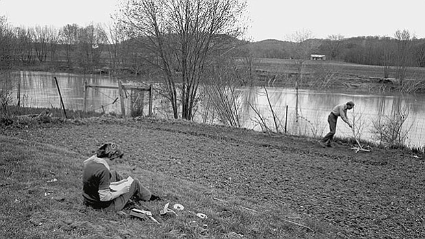 Tanya and Wendell Berry, 1970s. Henry County, Kentucky.