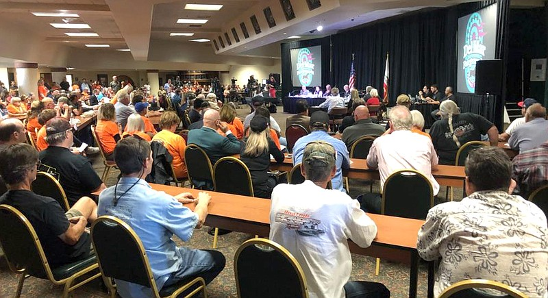 The Del Mar Fairgrounds Board of Directors listens to public comment for and ...