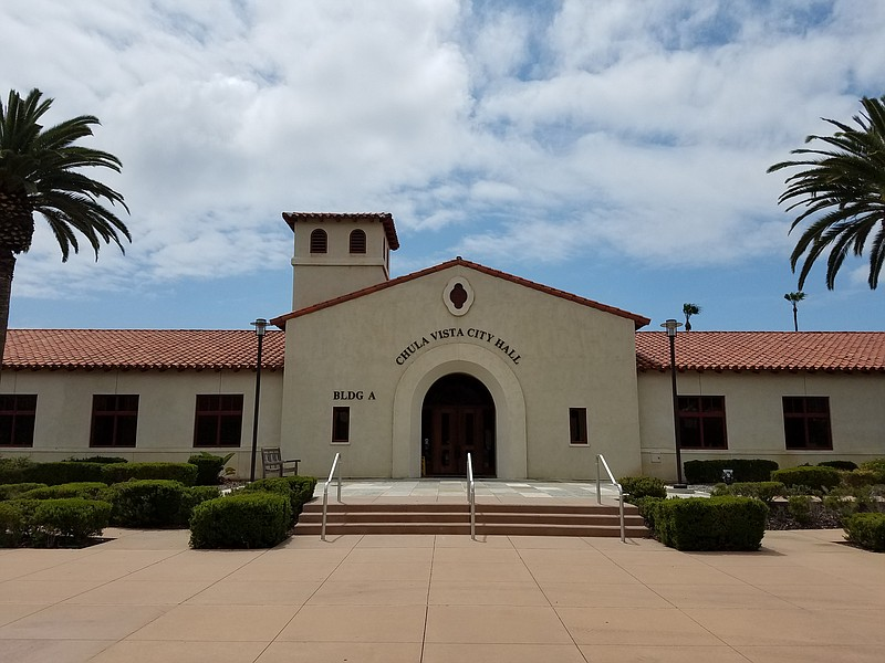 Chula Vista's city hall is shown on May 2, 2018.