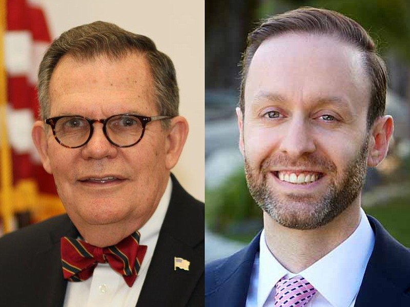 Ernie Dronenburg and Matt Strabone appear in official campaign portraits.