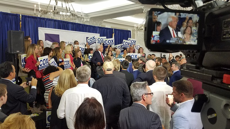 John Cox speaks to supporters at the U.S. Grant, June 5, 2018.