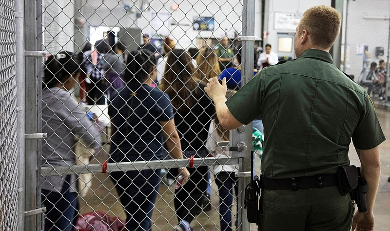 In this photo provided by U.S. Customs and Border Protection, a U.S. Border P...
