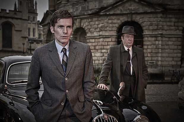 Shown from left to right: SHAUN EVANS as Detective Sergeant Endeavour Morse a...
