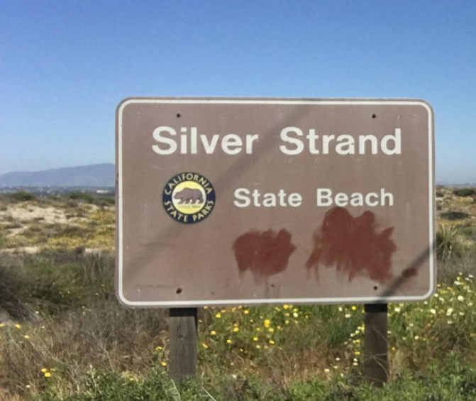 The Silver Strand State Beach sign, April 30, 2017.