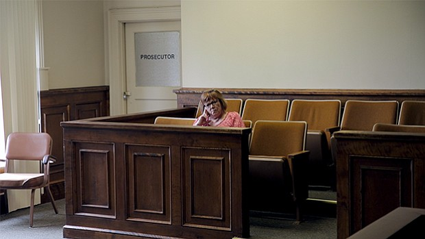 Lindy Lou in the jury box.