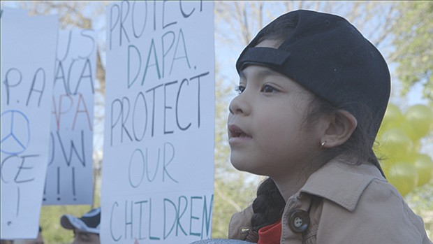 Young girl at DACA/DAPA protest in Washingon, D.C.
