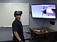 SDSU Information Technology Consultant Antonio Deninno testing out a vitural ...