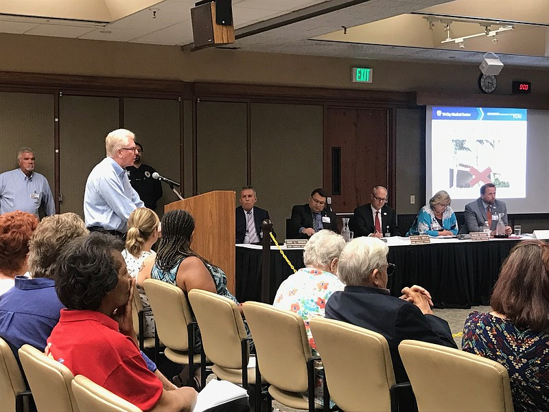 Tri-City administrators hear public testimony on their decision to suspend op...