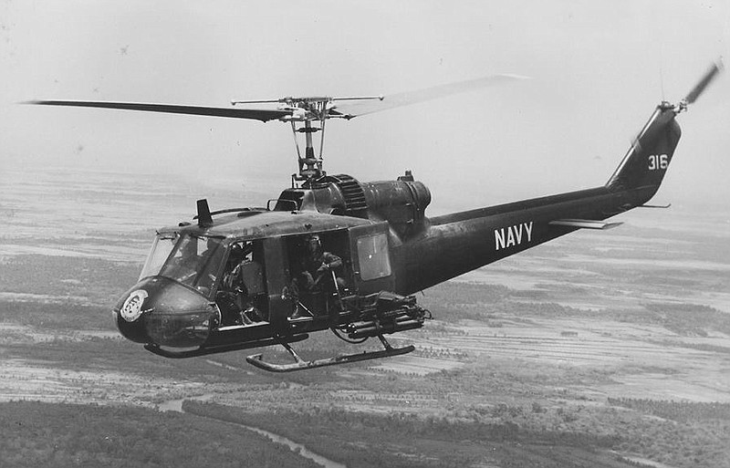 U.S. Navy Huey helicopter (undated photo)
