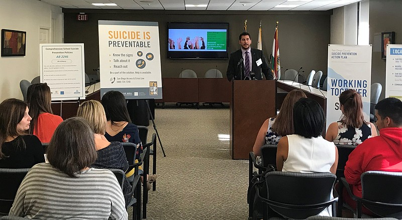 Stan Collins with the Suicide Prevention Council, releases San Diego County's...
