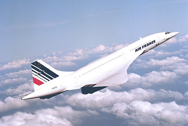 Air France Concorde in flight. (undated photo)