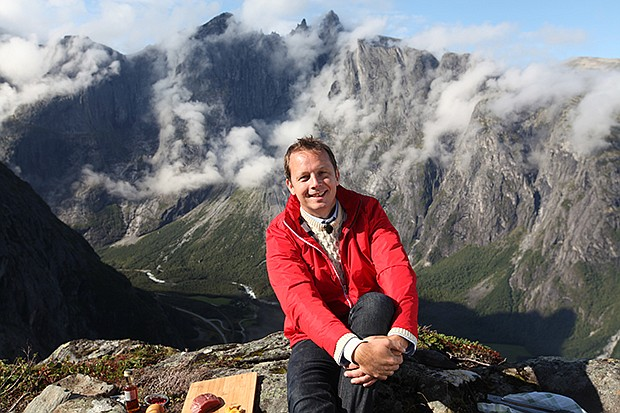Award-winning TV host and cookbook author Andreas Viestad sits comfortably on...