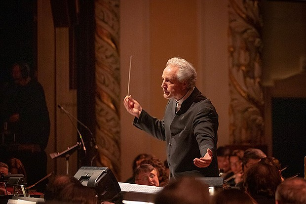 Pittsburgh Symphony Orchestra Music Director Manfred Honeck conducts during