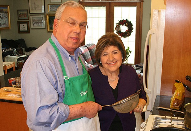 Hon. Thomas Menino, former mayor of Boston with Chef Mary Ann Esposito, host ...