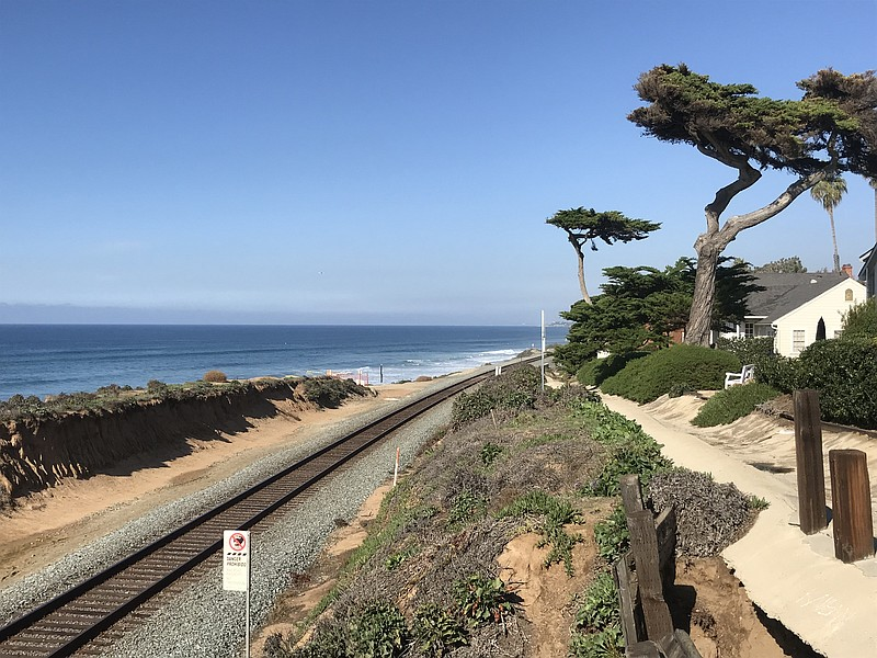 The rail line through Del Mar in this file photo, Dec. 11, 2018