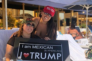 Mexican-American Woman Pushes Trump Agenda In Tijuana
