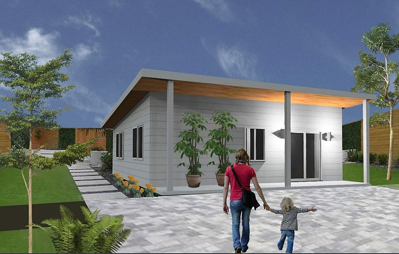 One of the permit-ready designs offered by the city of Encinitas to homeowner...