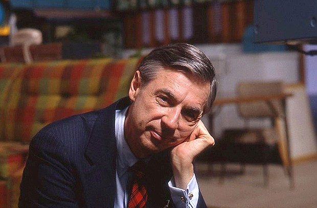 Fred Rogers on the set of his show MR. ROGERS NEIGHBORHOOD from the film,