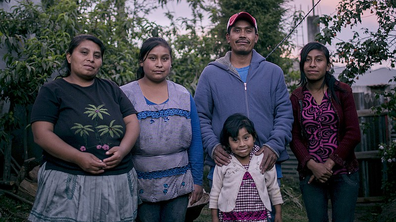 Jorge and Maribel's family are featured in the film,
