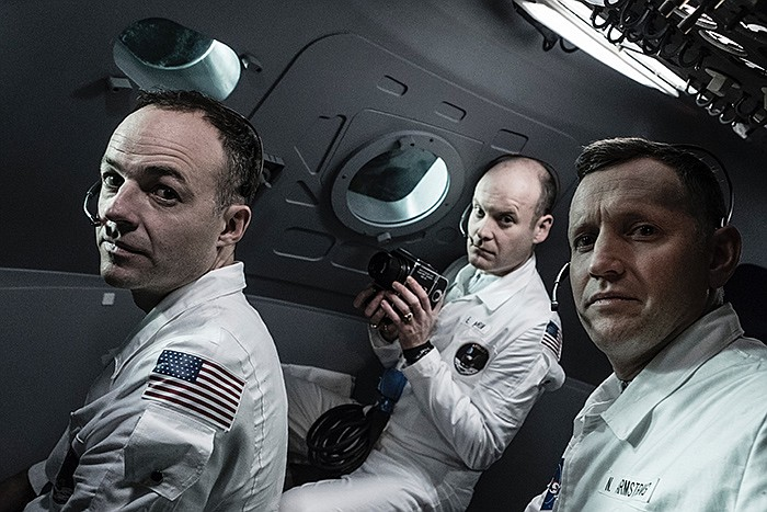 Michael Collins (Patrick Kennedy), Neil Armstrong (Rufus Wright) and Buzz Ald...