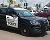 A La Mesa police vehicle drives the streets, Ma...