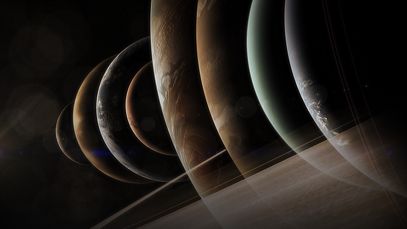 Planets graphic. NOVA tells the spectacular story of our solar system — a nar...