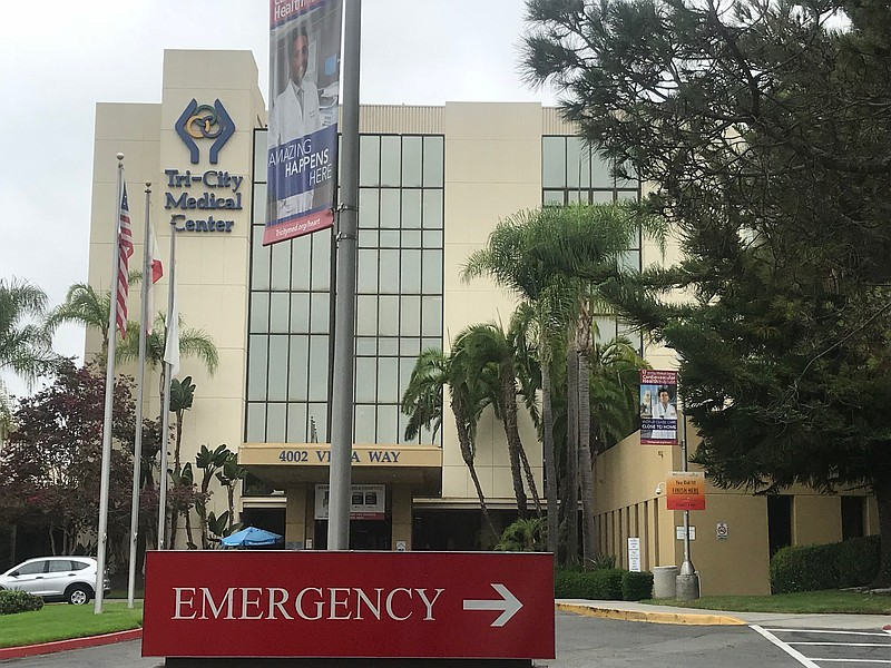 The Tri-City hospital in Oceanside is pictured, January 2019.