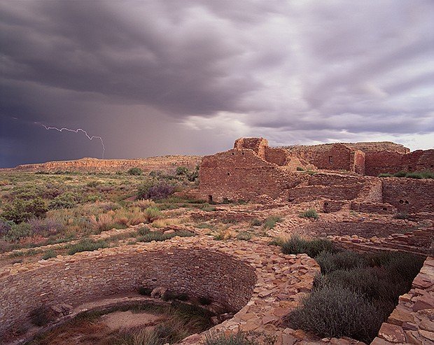 Del Arroyo lightning, Chaco Culture National Historical Park, N.M.