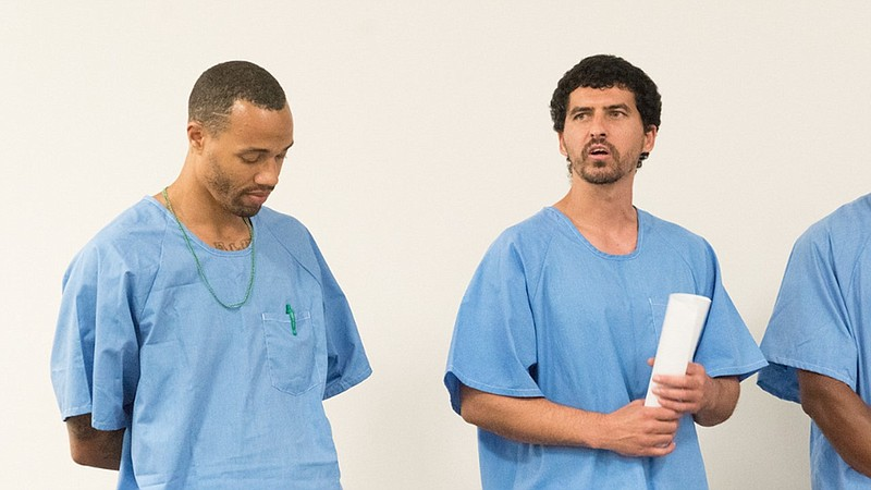 Shawn Khalifa, right, an inmate at Donovan State Prison, is shown in this und...
